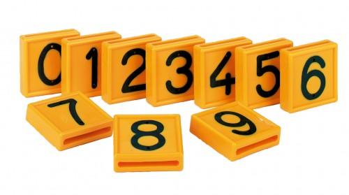 Nummernblock für Halsmarkierungsband, gelb