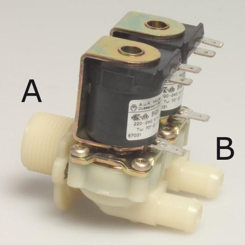 Magnetventil doppelt, Gerade 220V 3/4 Anschluss