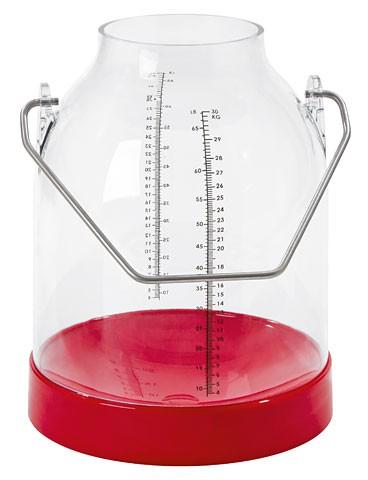 Plexiglas-Melkeimer 30 Liter | rot