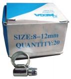 Schlauchschelle, verzinkt,  8 - 12 mm