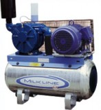 Vakuumpumpe 700 Liter, 1,84 kW, auf Tank, komplett