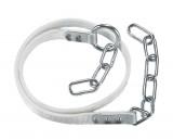 Rinderanbindung 180cm, doppelt mit Metallkausche, Ring am Band