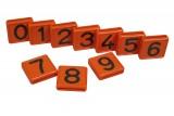 Nummernblock für Halsmarkierungsband, orange