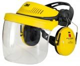 Kopfhalterung G500 mit Klappvisier und Gehörschutz