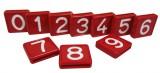 Nummernblock für Halsmarkierungsband, rot