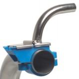 Edelstahl Milchhahnöffner 90° für Kunststoff-Milchanschluss, 16 x 18mm