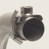 Edelstahl-Milchanschluss, gerader Stutzen 3/8 IG für 32-51mm Leitung