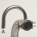 Edelstahl-Milchanschluss, 180° gebogener Stutzen 16/18mm für 50-52mm Leitung