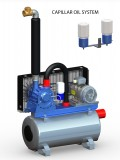 Vakuumpumpe 1020 Liter, 2,2 kW, auf Tank, komplett