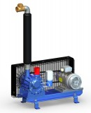 Vakuumpumpe 1020 Liter, 2,2 kW, auf Konsole, komplett