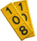 Halsmarkierungsnummer 3-stellig, gelb (2 Stück)