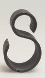 Schlauchhalter, Kunststoff, einzeln, S-Form, schwarz