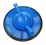 Kontrollmelkdeckel 16mm kpl. mit Dichtung, blau (20mm außen)