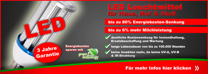 LED Beleuchtung f�r Stall, Haus & Hof